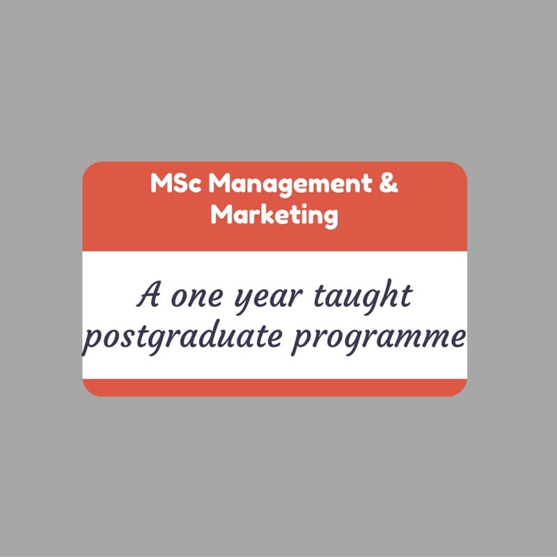 MSc Management and Marketing Open Evening