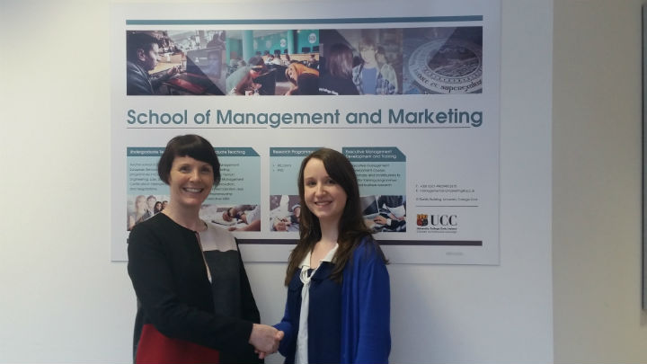 MSc Management and Marketing student awarded the O'Connor Scholarship in November 2015