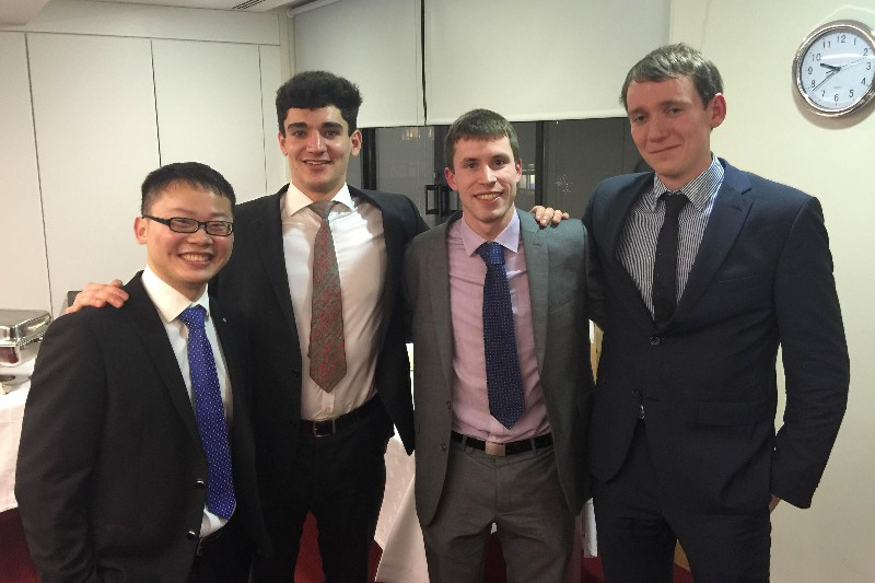 CUBS Team into the Irish Final of the CFA Institute Research Challenge