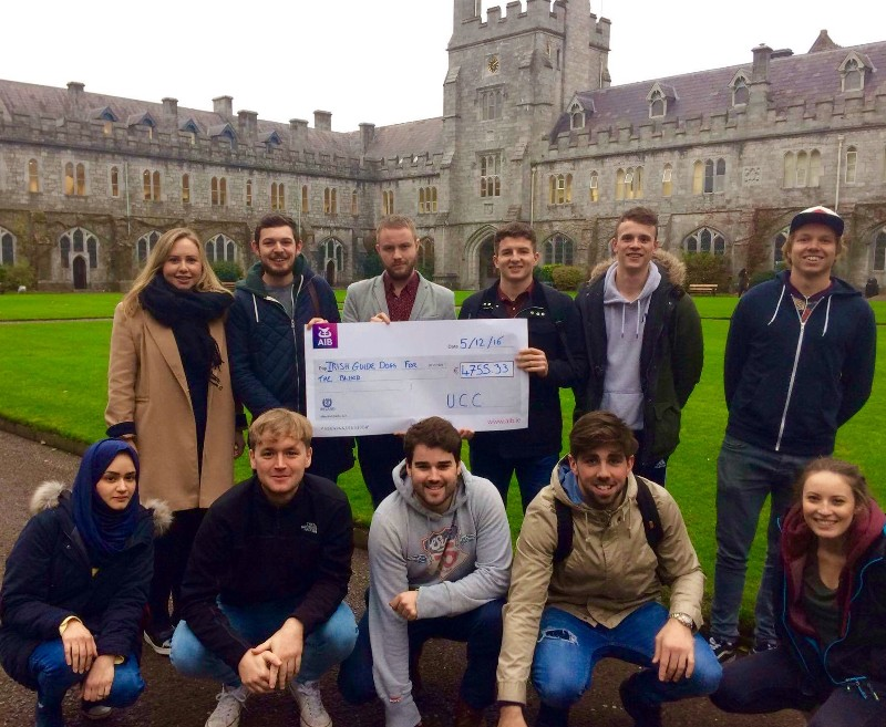 MSc Management & Marketing students raise €4755.33 for the Irish Guide Dogs
