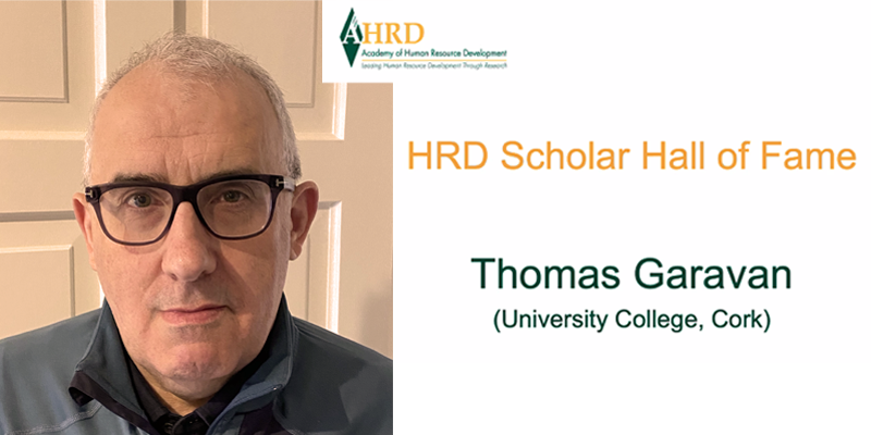 Professor Thomas Garavan inducted into Academy of Human Resource Development's Hall of Fame