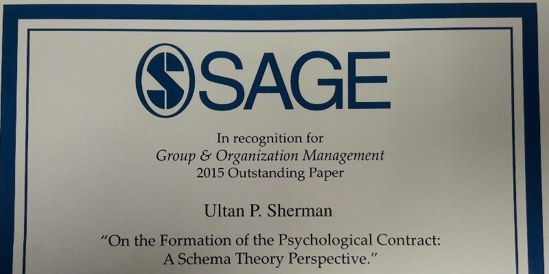 Ultan Sherman Awarded