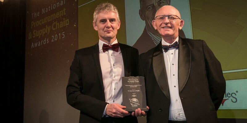 Dr Seamus O'Reilly wins Supply Chain Leader Award