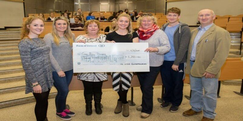 UCC students raise €4,250 and donate funds to UNICEF, Cork Penny Dinners and a number of smaller local charities.