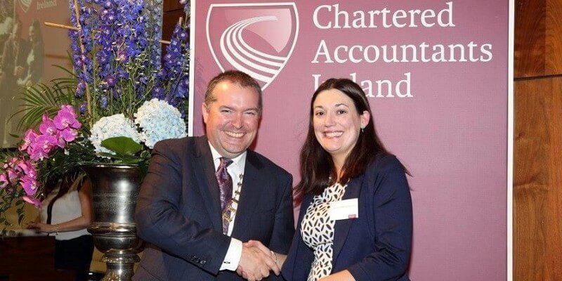 Claire O'Sullivan Rochford conferred as a Fellow of the ICAI